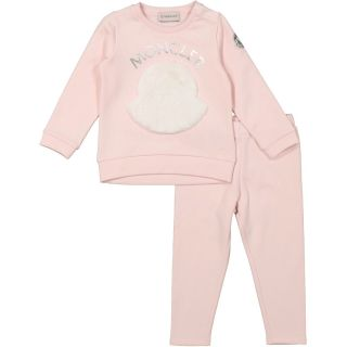 Baby Girls Pink Branded Tracksuit