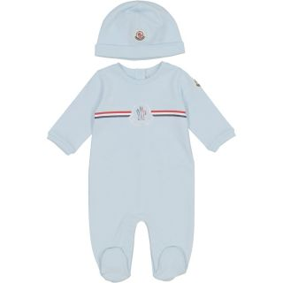 Baby Blue Romper & Hat Set