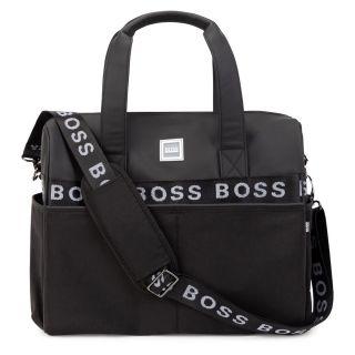 Baby Black Logo Changing Bag