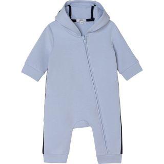 Baby Boys Blue Hooded Romper