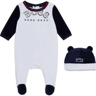 Baby Boys Romper & Hat Set