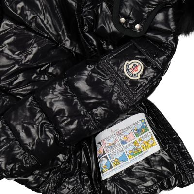 Girls Black Bady Fur Coat