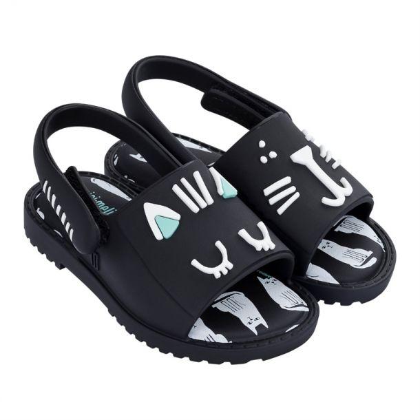 Black Cat Face Sandal