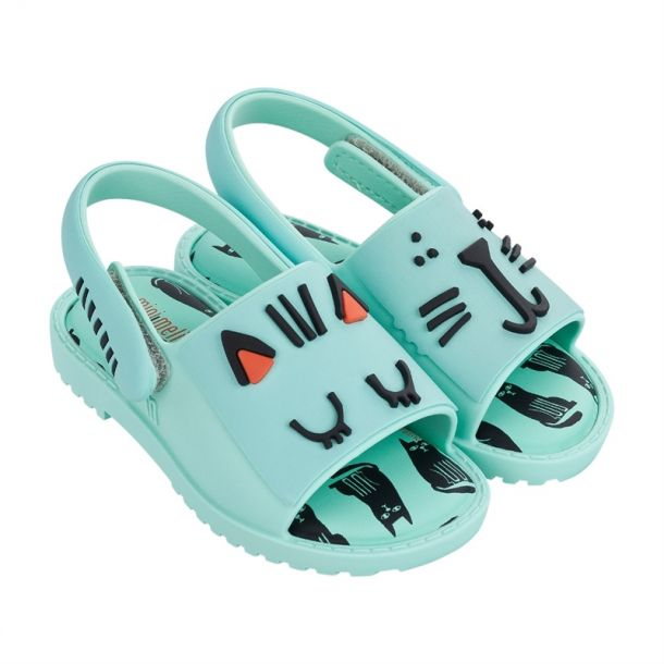 Mint Cat Face Sandal