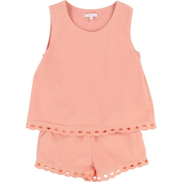 Girls Pink Jersey Playsuit