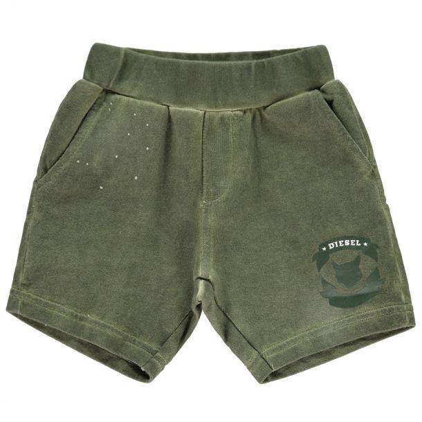 Baby Boys Khaki Jersey Shorts