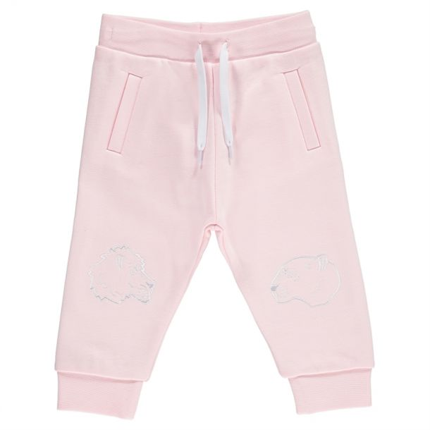 Baby Girls Pink Track Pants
