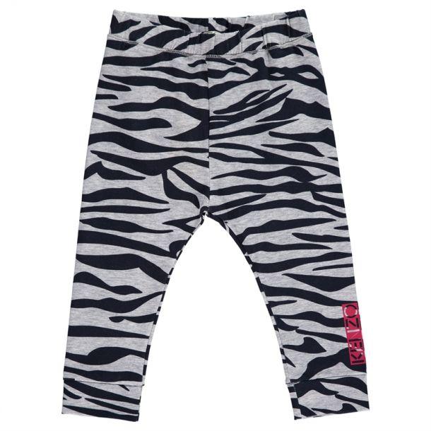 Baby Girls Grey Tiger Leggings