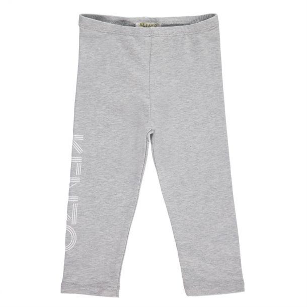 Baby Girls Grey Branded Leggings