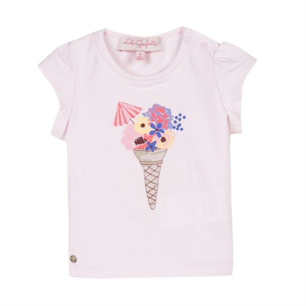 Baby Girls Pink Ice Cream T-shirt