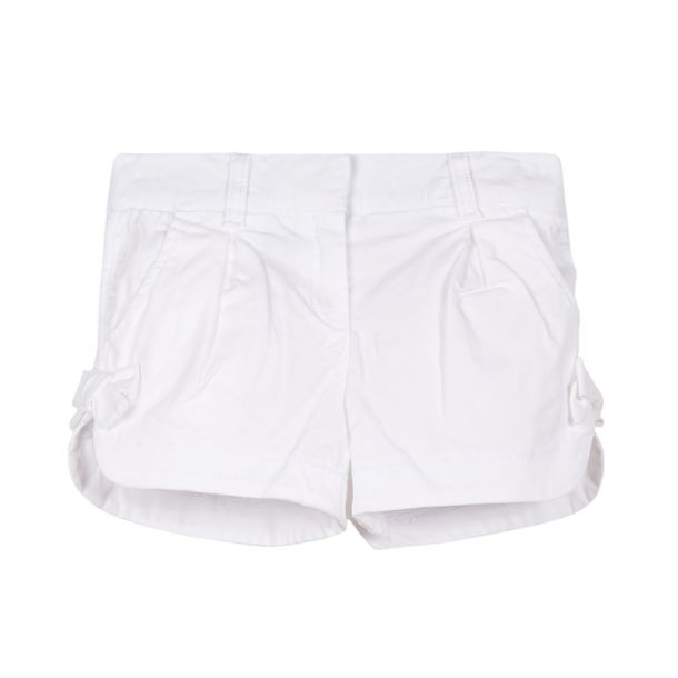 Girls White Shorts With Bows