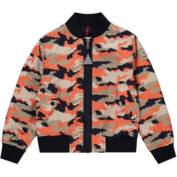 Boys Verac Camouflage Bomber Jacket
