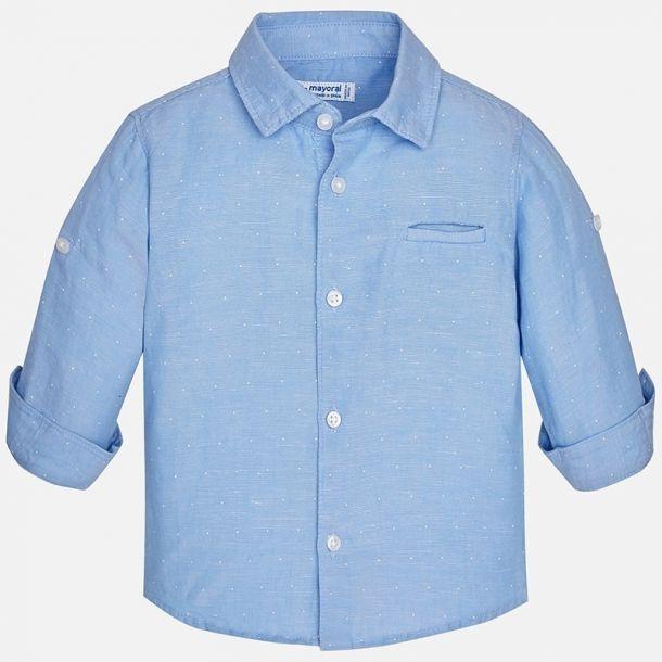 Baby Boys Blue Polka Dot Shirt