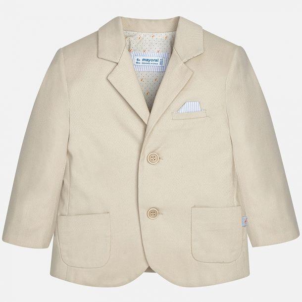 Baby Boys Beige Suit Jacket