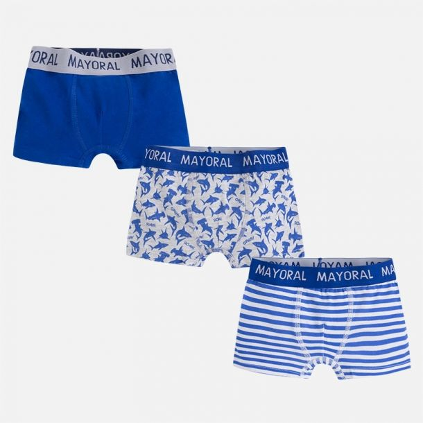 Boys Three Pack Of Boxers