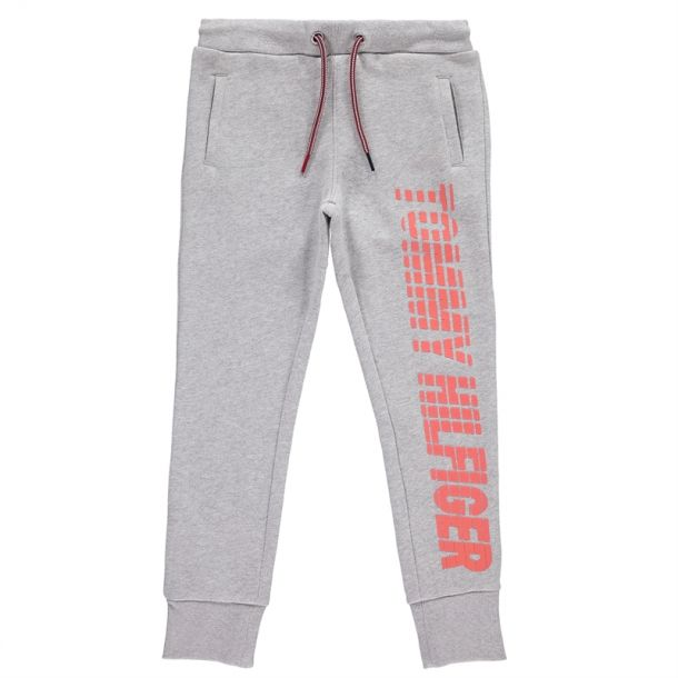 Girls Grey Tommy Joggers