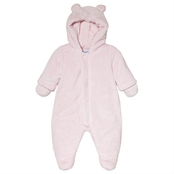 Baby Girls Faux Fur Snowsuit