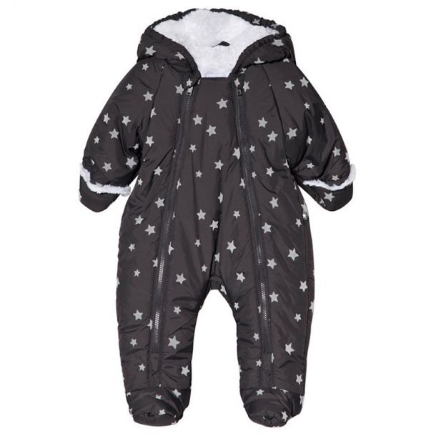 Baby Boys Star Print Snowsuit