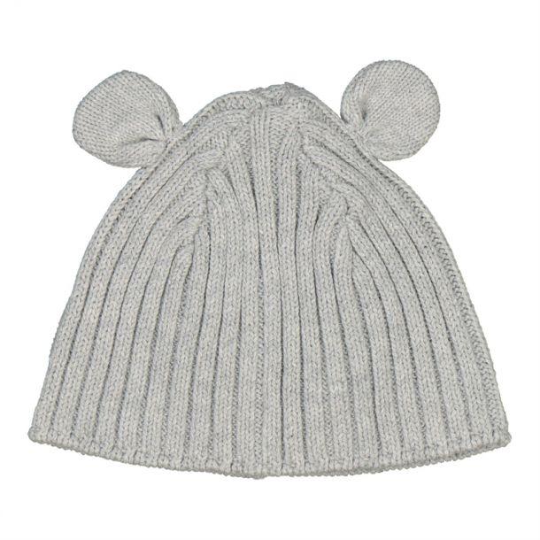 Baby Grey Ear Detail Hat