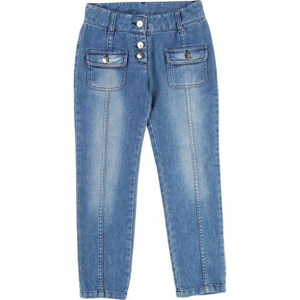 Girls Front Pocket Jeans
