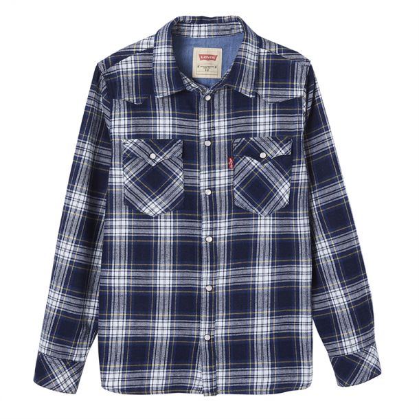 Boys Branded Check Shirt