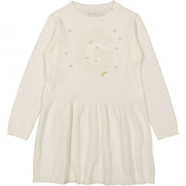 Girls Cotton Knit Logo Dress