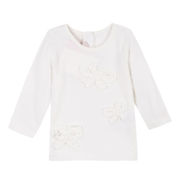 Baby Girls Bow Applique T-shirt