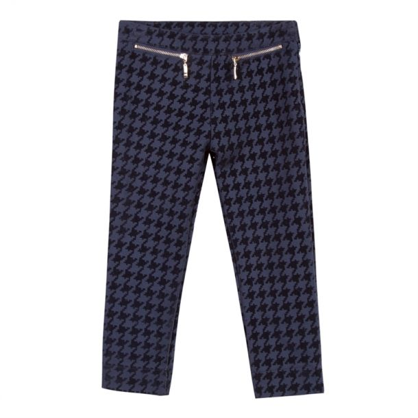 Girls Houndstooth Trousers