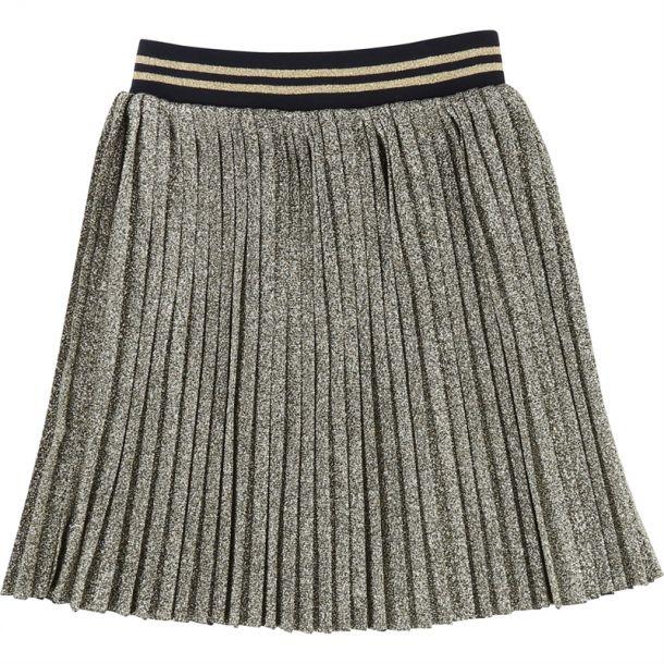 Girls Gold Lurex Skirt