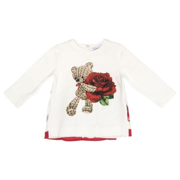 Baby Girls Teddy Rose T-shirt