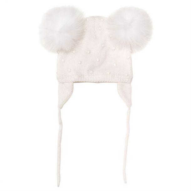 Baby Girls Knitted Pom Pom Hat