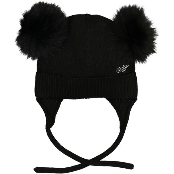 Girls Double Pom Pom Hat