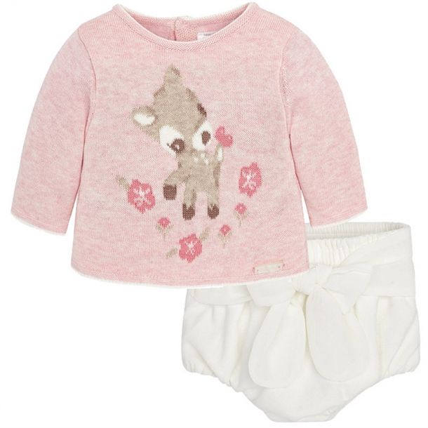 Baby Girls Knit Top And Pants