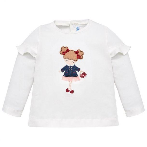 Baby Girls Girl Motif T-shirt
