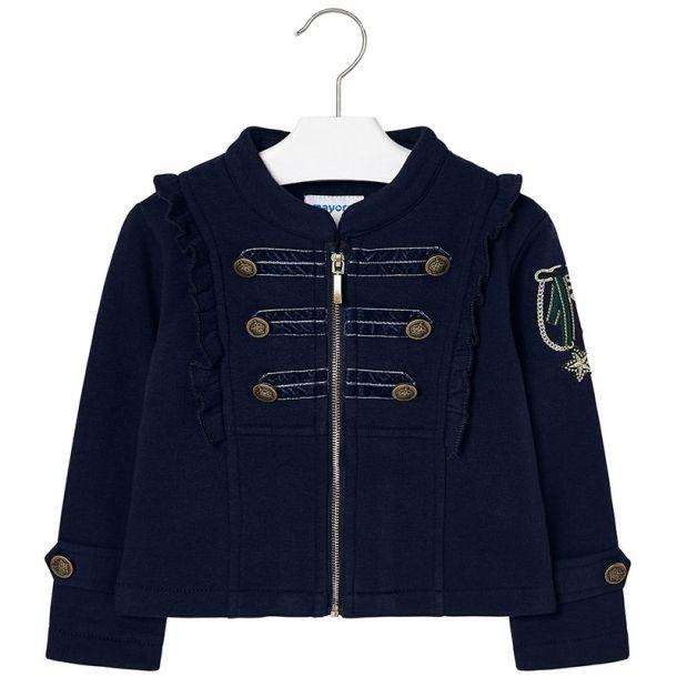 Girls Military Jersey Jacket