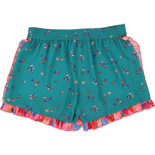 Girls Frill Floral Shorts