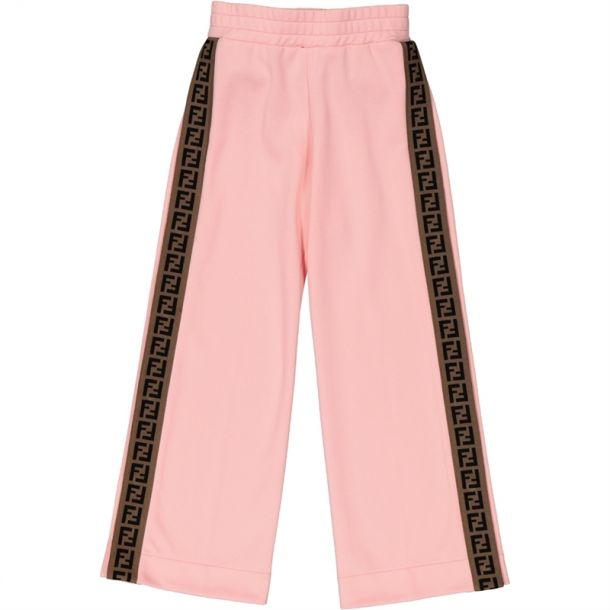Girls Pink Logo Side Trackpants