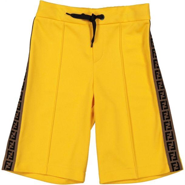 Boys Yellow Ff Logo Shorts