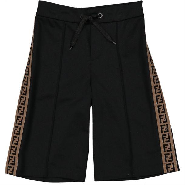 Boys Black Ff Logo Shorts
