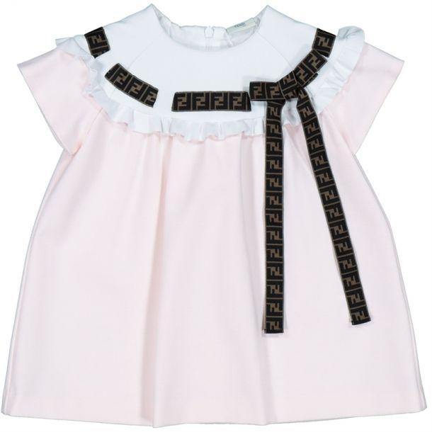 Baby Girls Logo Ribbon Dress