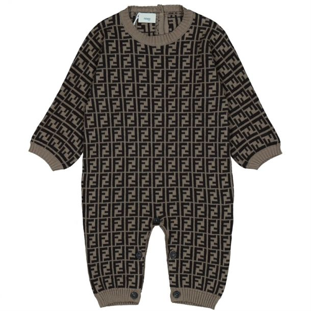 Baby Ff All Over Logo Romper