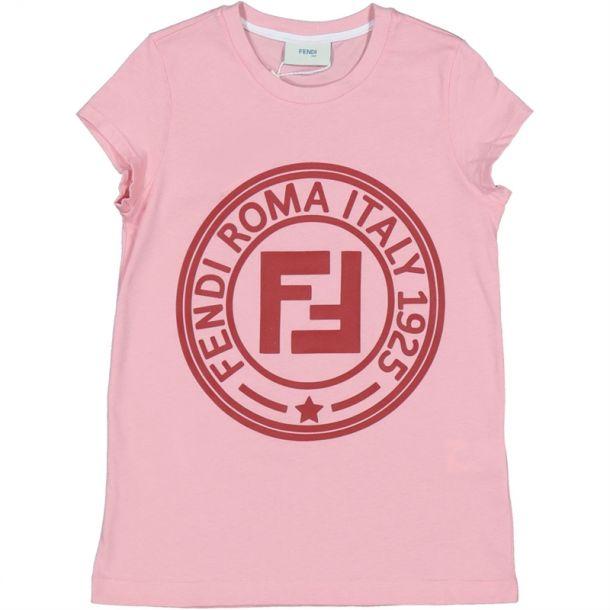 Girls Pink Fendi Roma T-shirt