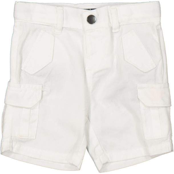Baby Boys White Pocket Shorts