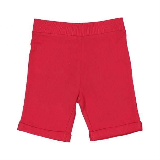 Boys Red Branded Jersey Short