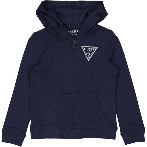 Girls Blue Logo Zip Up