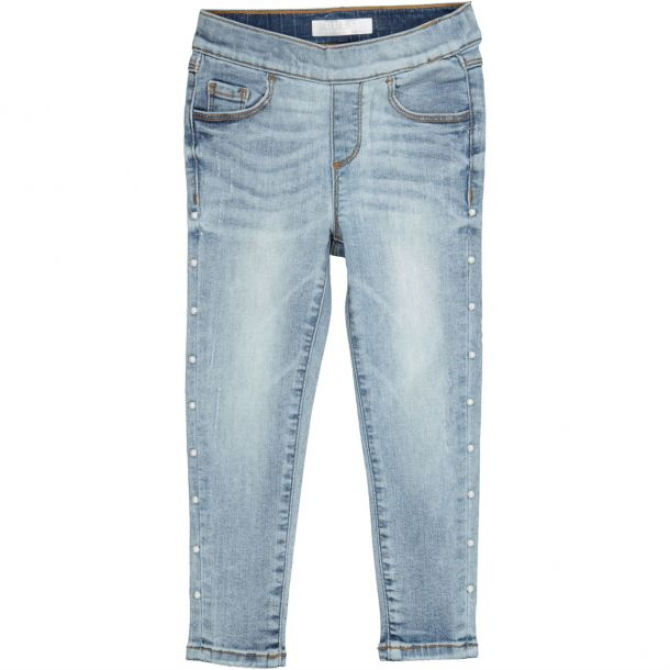 Girls Denim Pearl Jeans