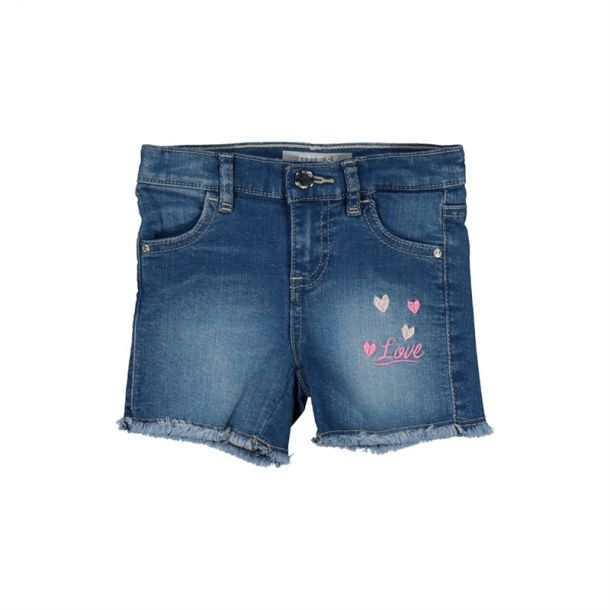 Girls Denim Love Heart Shorts