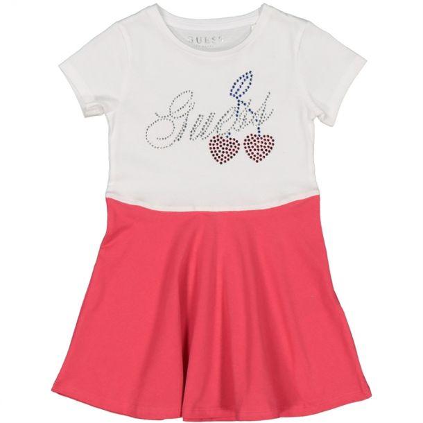 Girls Cherry Two Tone Dress