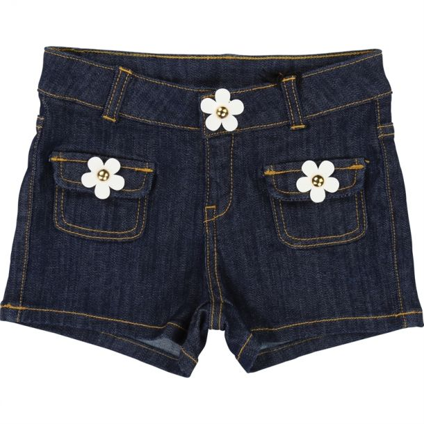 Girls Denim Daisy Shorts