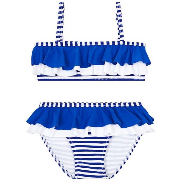 Girls Blue Stripe Bikini